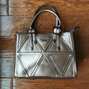 GUESS Shiny Silver Handbag